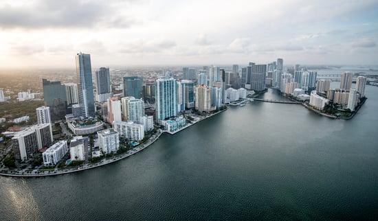 Air shot buildings at the coast of Miami-1