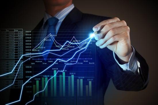 Closeup image of businessman drawing 3d graphics-4