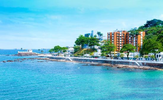 Farol da Barra Beach in Salvador, Bahia, Brazil