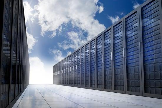 Server hallway in the sky