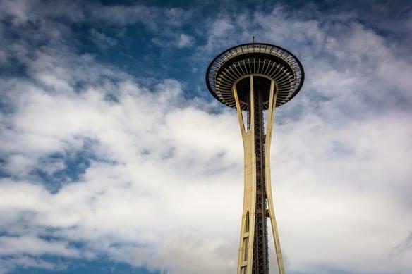 The Space Needle, in Seattle, Washington.
