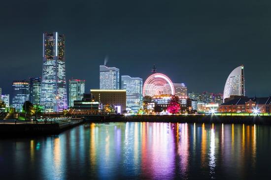 Yokohama city in Japan at night-1