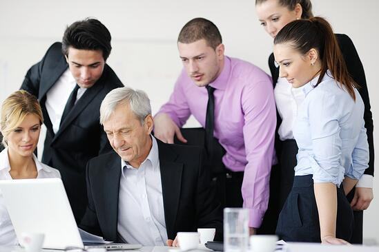 business people  team  at a meeting in a light and modern office environment.-1