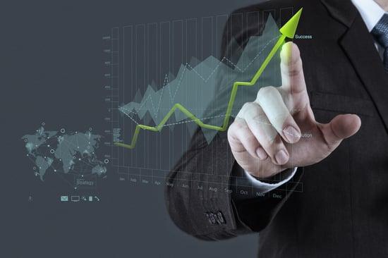 businessman hand draws business success chart concept on virtual screen-1